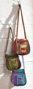 Hippy Bag~Ethnic Hippy Stripey Cotton Dhurry Shoulder Bag~Fair Trade by Folio Gothic Hippy SB114